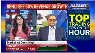 BEML CMD – CNBC 11.06.2018 - Expects 30% Revenue Growth