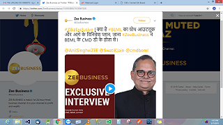 CMD's Interview with Zee Business 28.02.2019