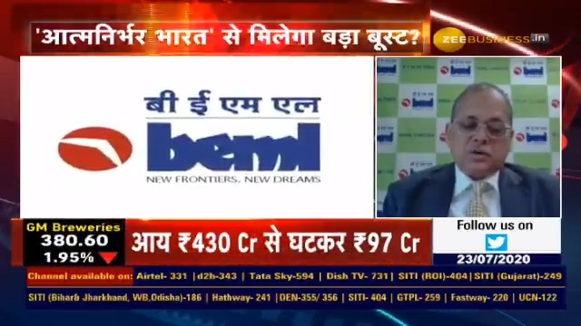 BEML CMD Speaks To Zee Business – 23.07.2020